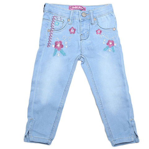 Girls Denim Pant - Light Blue