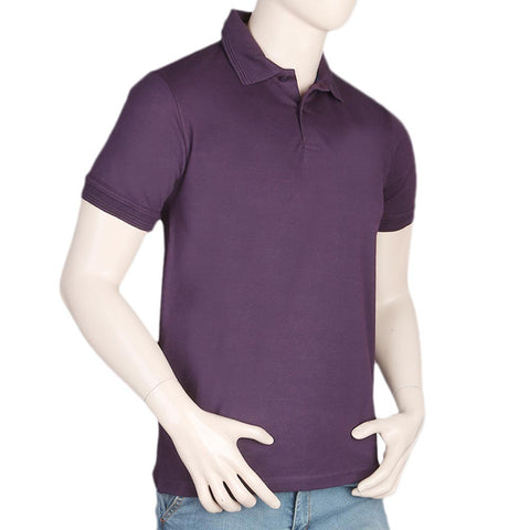 Men's Half Sleeves Polo T-Shirt - Purple