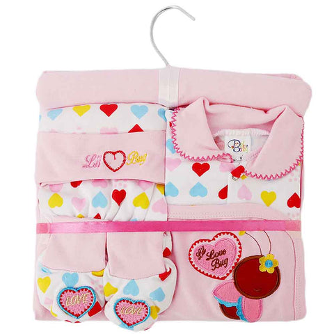 Newborn Baby Gift Suits (6 Pcs) - Pink