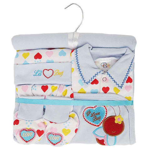 Newborn Baby Gift Suits (6 Pcs) - Blue