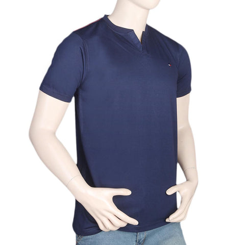 Men's Half Sleeves T-Shirt - Navy Blue