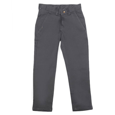 Boys Cotton Pant - Dark Grey