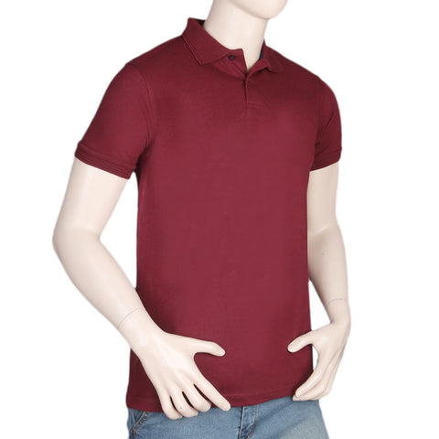Men's Half Sleeves Polo T-Shirt - Maroon