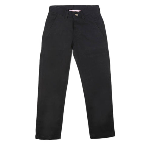 Boys Cotton Pant - Black