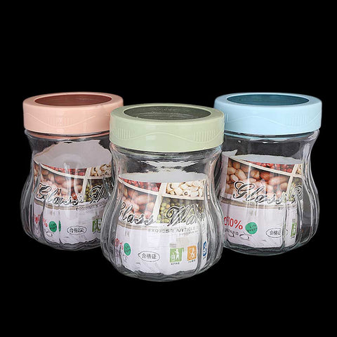 Glass Jar 3 Pcs Set - Multi