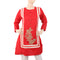 Women's Embroidered Bunch Kurti - Red