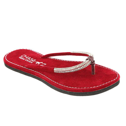 Women's Slipper (J322) - Maroon
