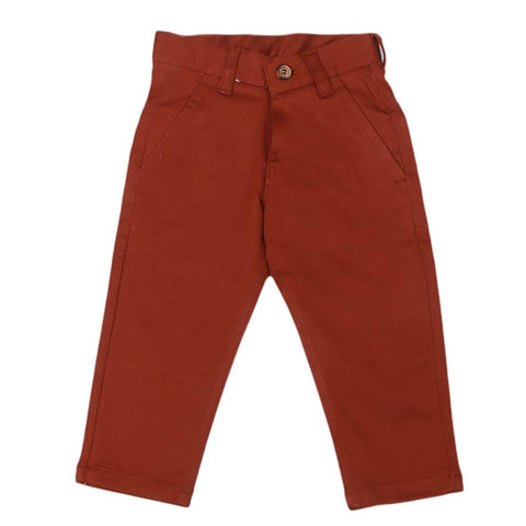 Boys Cotton Pant - Rust