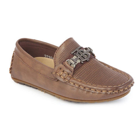 Boys Loafer 339A - Khaki