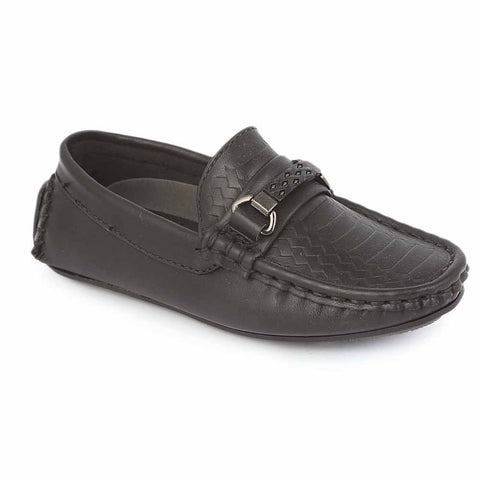 Boys Loafer Shoes 3357B - Black