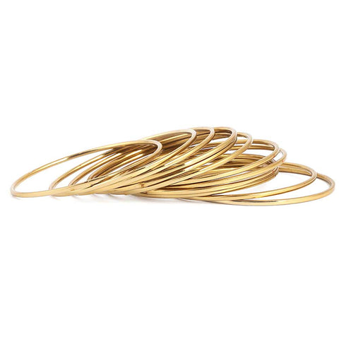 Girl's Bangles 12 Pcs - Golden - test-store-for-chase-value