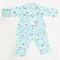 Girls Full Sleeves Night Suit - Cyan
