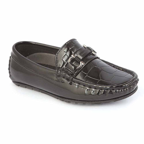 Boys Loafer Shoes 311B - Black