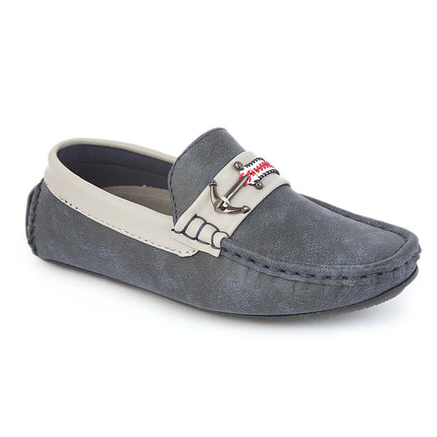 Boys Loafers 3251A - Navy Blue
