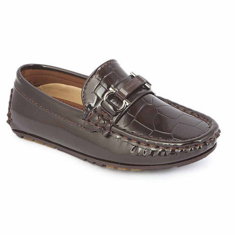 Boys Loafer Shoes 311B - Coffee