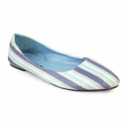 Women's Fancy Pumps (7019-1) - Blue