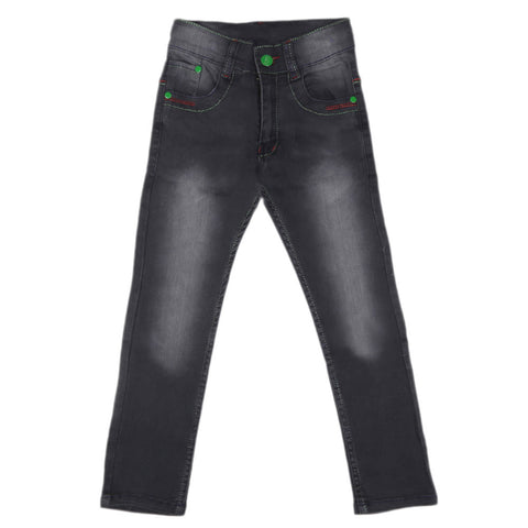 Boys Denim Pant - Black