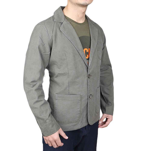 Men's Cotton Jump Stitch Coat - Grey