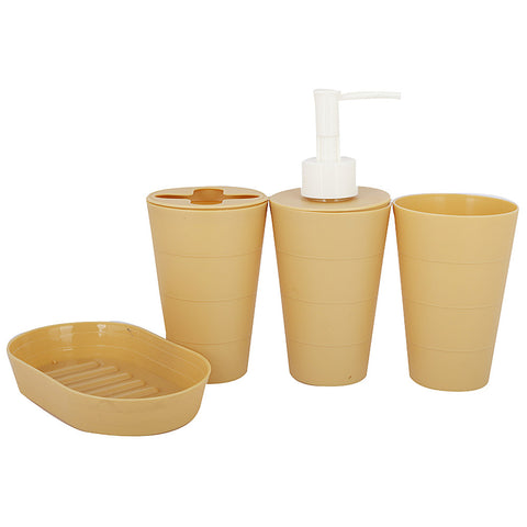 Bathroom Toiletries Set 4 Pcs - Mustard