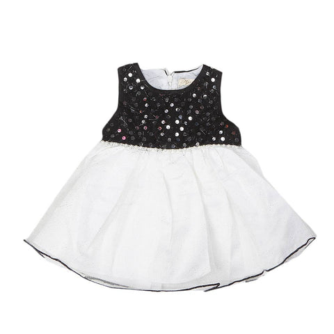 Newborn Girls Frock - Black