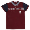 Boys Half Sleeves Round Neck T-Shirt - Maroon