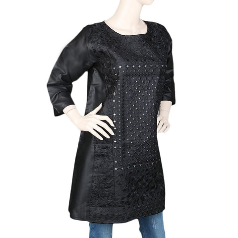 Women's Embroidered Kurti - Black