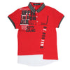 Boys Half Sleeves Round Neck T-Shirt - Red