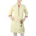 Women's Embroidered Kurti - Yellow