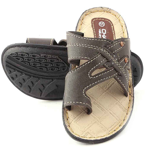 Boys Slipper - Brown