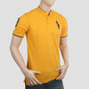 Men's Pique Band Collar Polo T-Shirt - Yellow