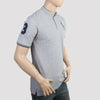 Men's Pique Band Collar Polo T-Shirt - Grey