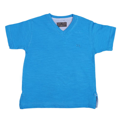 Boys Eminent V-Neck T-Shirt - Blue