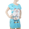 Women's Nightwear Long T-Shirt - Blue