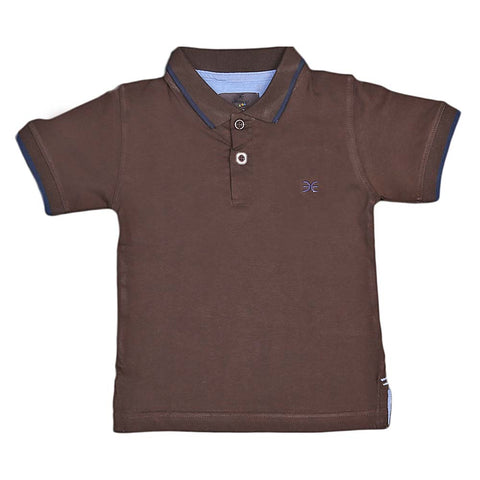 Boys Eminent Half Sleeves T-Shirt - Coffee