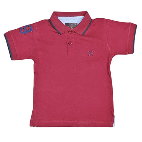 Boys Eminent Half Sleeves T-Shirt - Maroon
