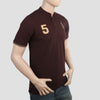 Men's Pique Band Collar Polo T-Shirt - Coffee