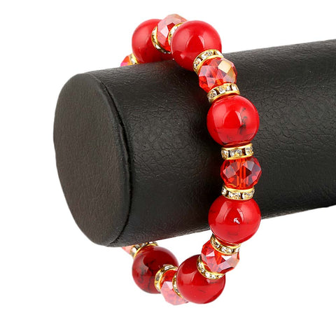 Women's Stone Bracelet - Red - test-store-for-chase-value