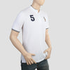 Men's Pique Band Collar Polo T-Shirt - White