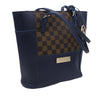 Women's Handbag H-81 -Navy Blue & Brown
