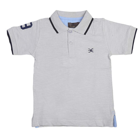 Boys Eminent Half Sleeves T-Shirt - Grey