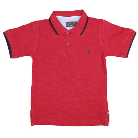 Boys Eminent Half Sleeves T-Shirt - Red