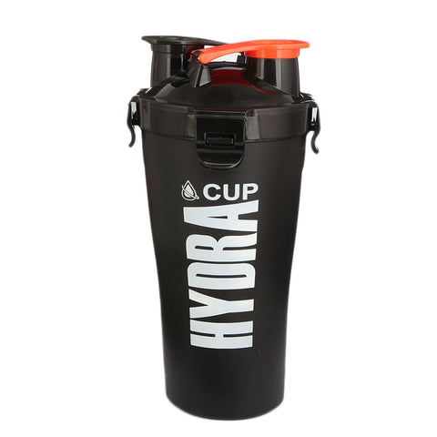 Travelling Water Bottle Two Partition - Black