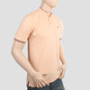 Men's Pique Band Collar Polo T-Shirt - Peach