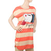 Women's Nightwear Long T-Shirt - Peach