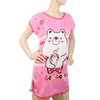 Women's Nightwear Long T-Shirt - Pink