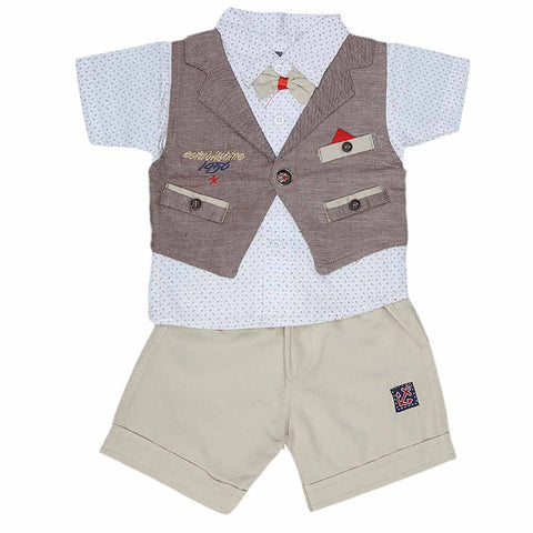 New Born Boys Suits - Brown