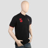 Men's Pique Band Collar Polo T-Shirt - Black
