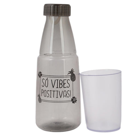Water Bottle With Glass - Grey