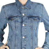 Women's Denim Full Sleeves Jacket - Blue