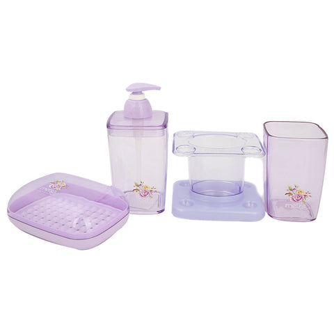 Bathroom Toiletries Set 4 Pcs 6206 - Purple